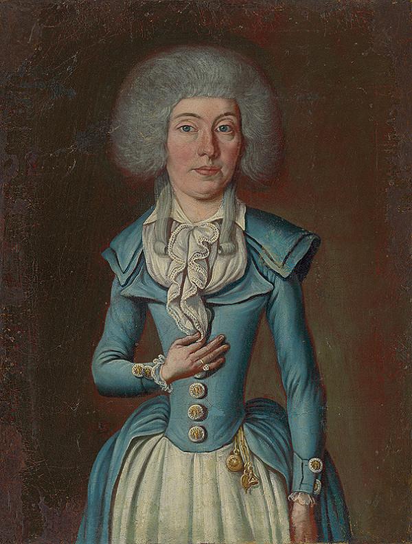 Stredoeurópsky maliar z konca 18. storočia - Podobizeň neznámej dámy