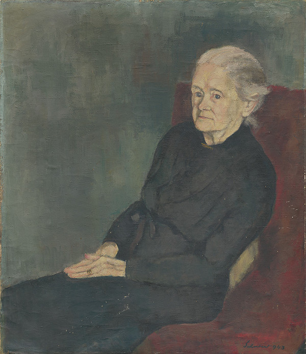 Július Schubert – Portrét umelcovej matky