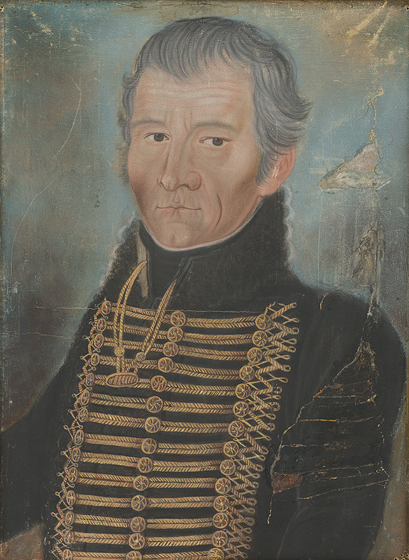 Bratislavský maliar z 3. štvrtiny 19. storočia – Portrét Michala von Jobbágyiho