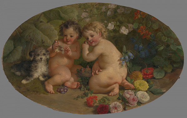 Stredoeurópsky maliar z 2. polovice 19. storočia – Hrajúce sa putti
