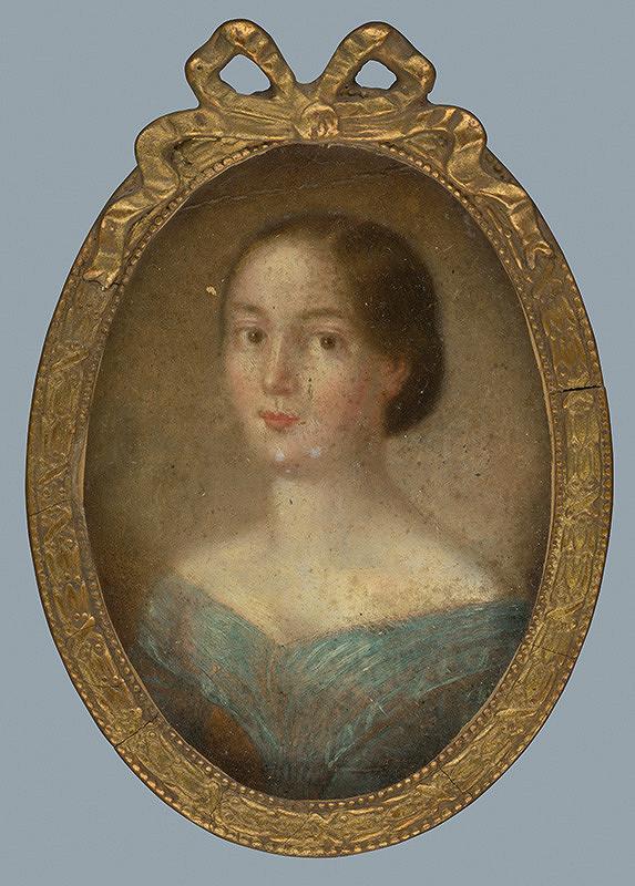 Stredoeurópsky maliar z 19. storočia - Žena v modrom