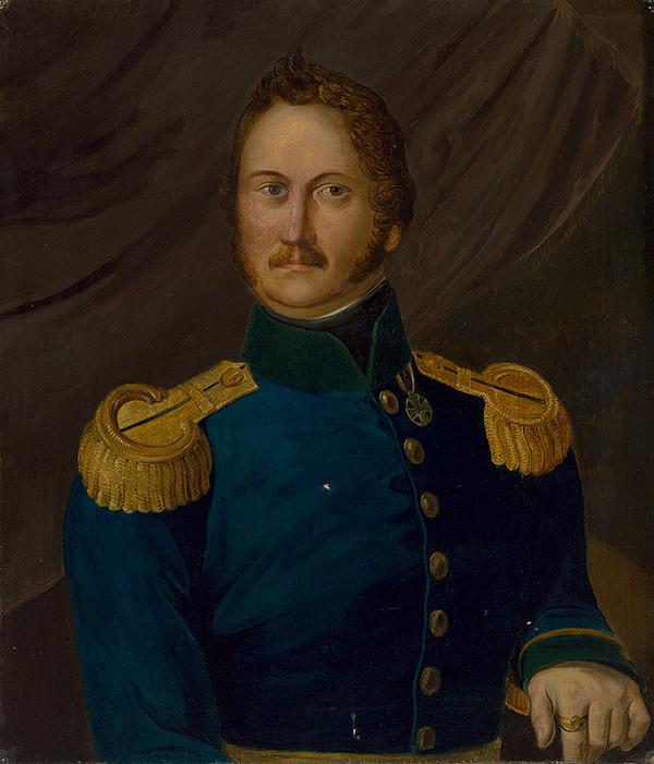 Stredoeurópsky maliar z 1. tretiny 19. storočia - Portrét dôstojníka