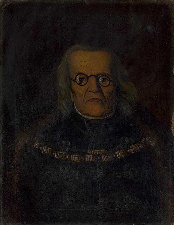 Stredoeurópsky maliar z 2. polovice 19. storočia - Portrét Fillipa Scherza de Vaszoy