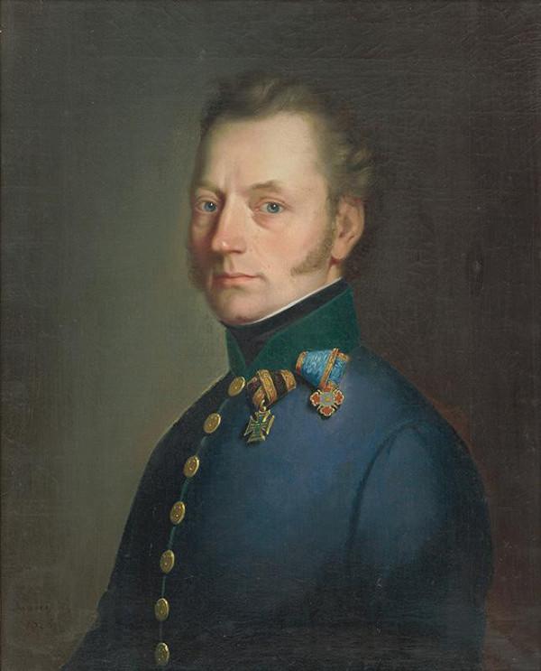 Constantin Daniel - Portrét dôstojníka Wiliama von Lebzeltern