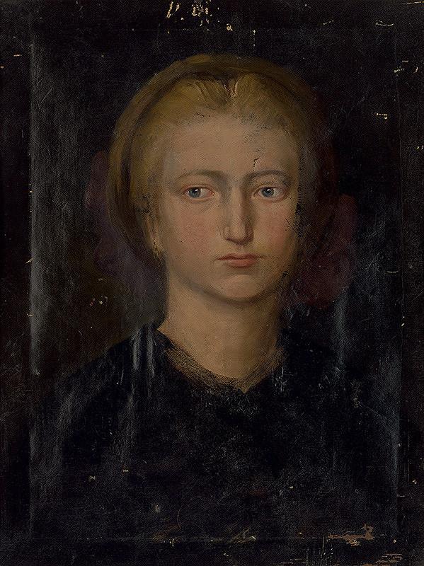 Stredoeurópsky maliar z prelomu 19. - 20. storočia - Portrét neznámej ženy