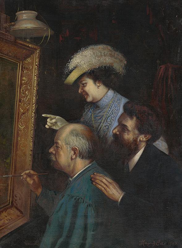 Eduard Majsch - V ateliéri - Eduard Majsch s manželmi Burgerovcami