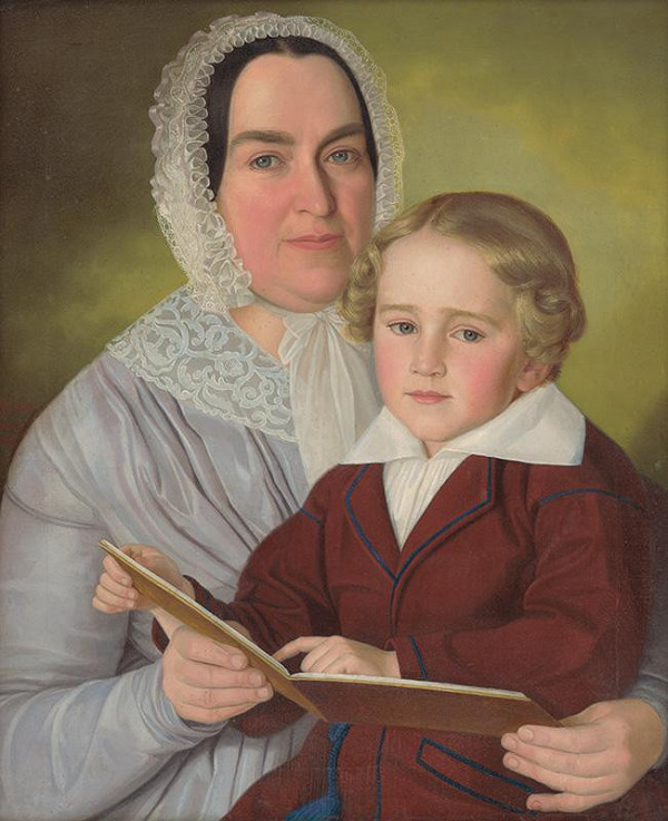 Jozef Božetech Klemens – Portrét Anny Berzeviczyovej s malým chlapcom