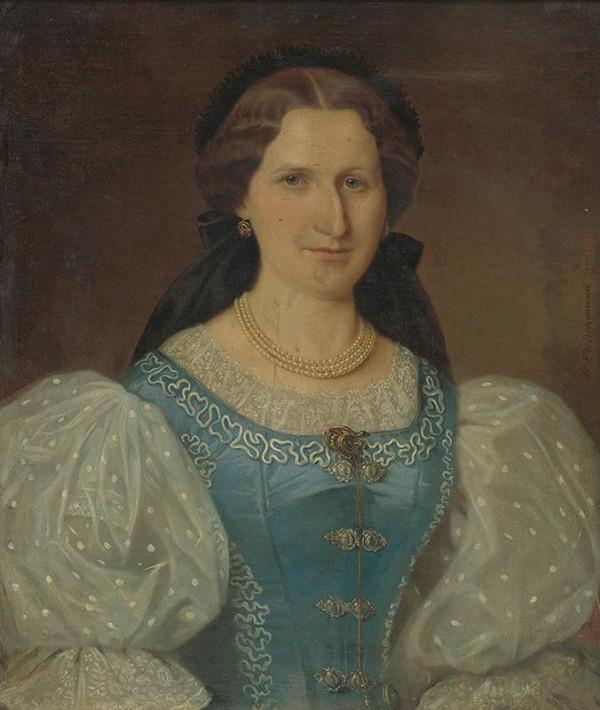 Georg Fleischmann - Portrét barónky Mednyanszkej
