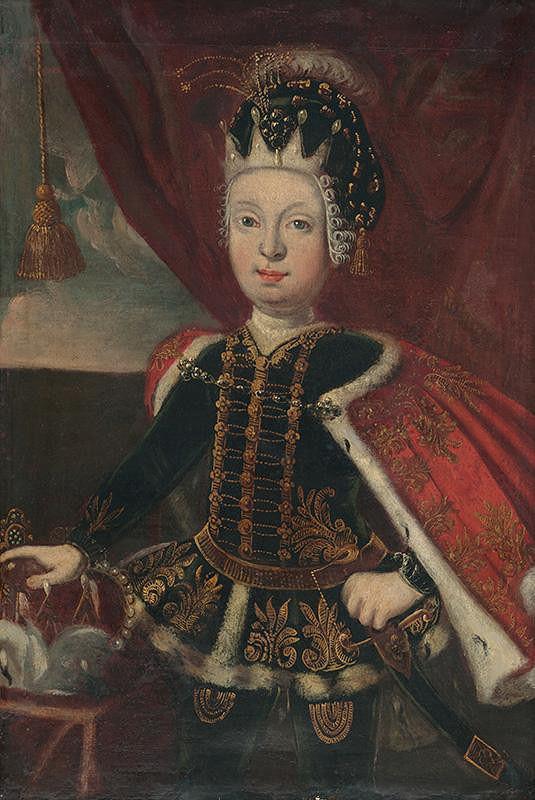 Stredoeurópsky maliar zo začiatku 18. storočia – Jozef II. ako dieťa v uhorskej uniforme