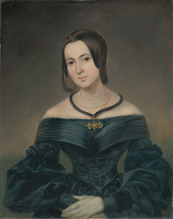 Ferdinand Karl Theodor Lütgendorff – Portrét pani Mihályiovej