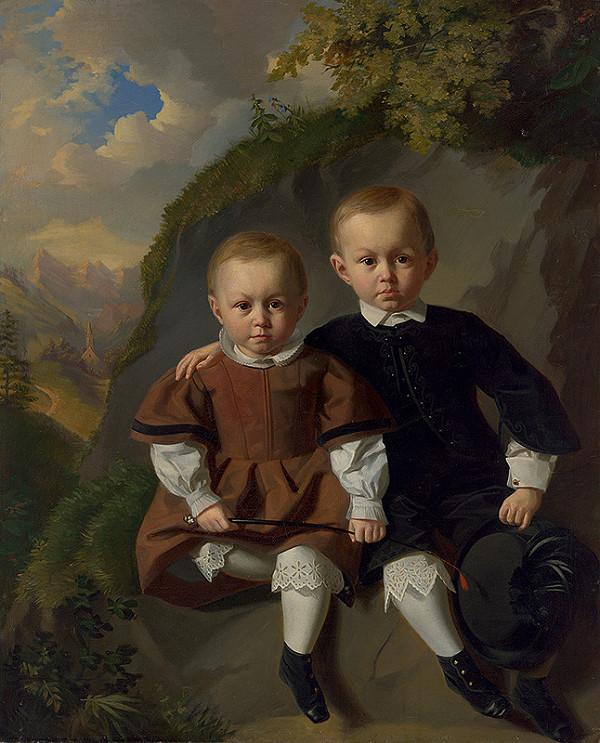 Peter Fendi – Portrét dvoch detí