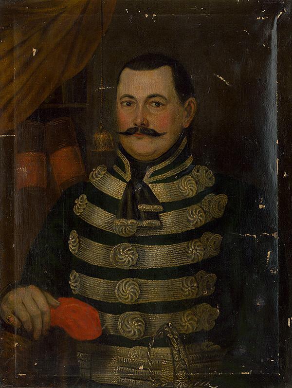 Stredoeurópsky maliar okolo polovice 19. storočia - Portrét neznámeho šľachtica