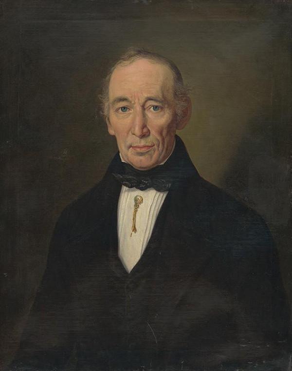 Johann Nepomuk Höfel – Portrét muža v čiernom odeve