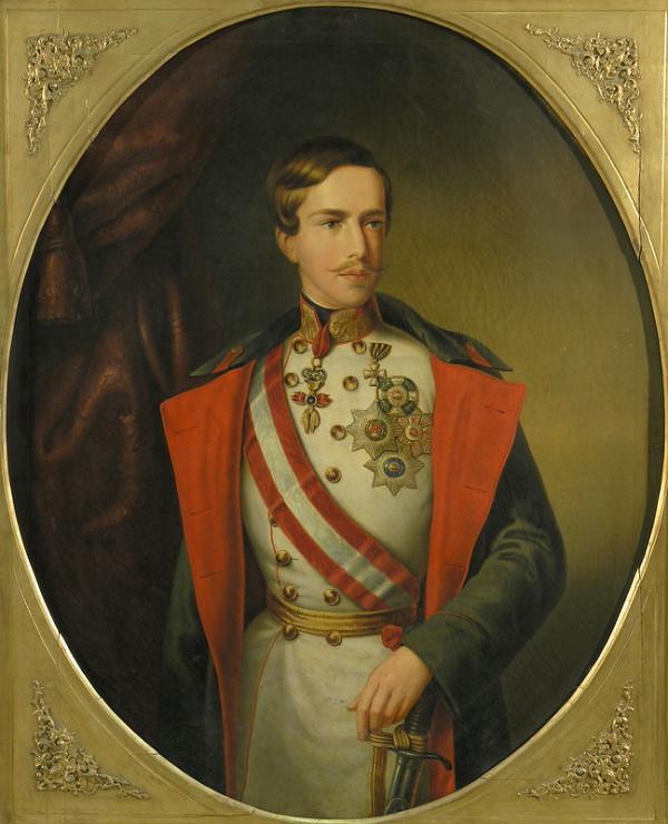 Stredoeurópsky maliar z polovice 19. storočia, Anton Einsle - Portrét Františka Jozefa I.