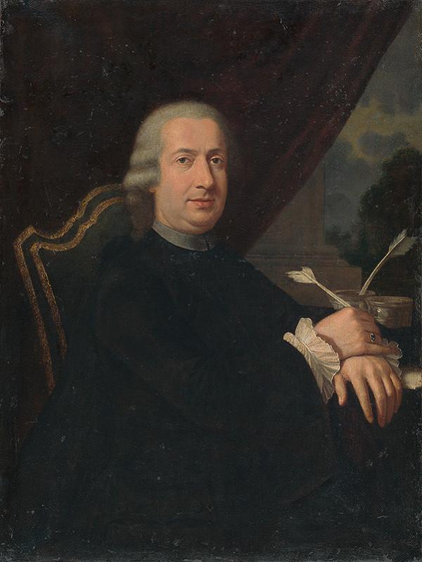 Stredoeurópsky maliar z 3. štvrtiny 18. storočia - Portrét neznámeho učenca