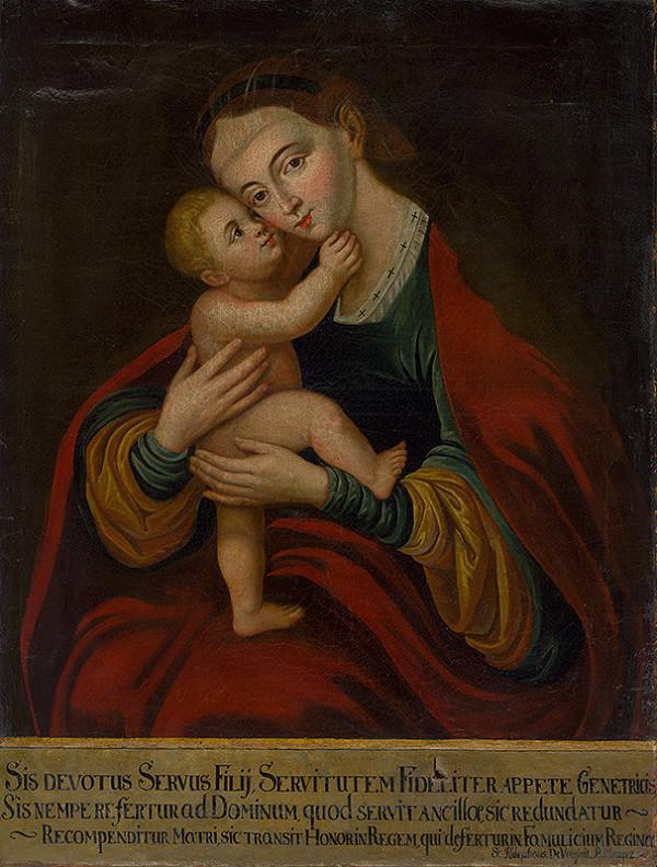 Stredoeurópsky maliar z 2. polovice 18. storočia - Kópia obrazu Panny Márie Pomocnej