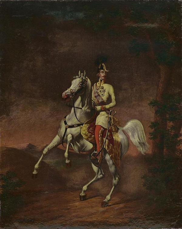 Leo König, Carl Heitzmann - Jazdecký portrét Františka Jozefa I.