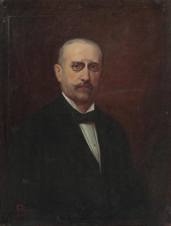 Ľudovít Pitthordt - Portrét muža s cvikrom