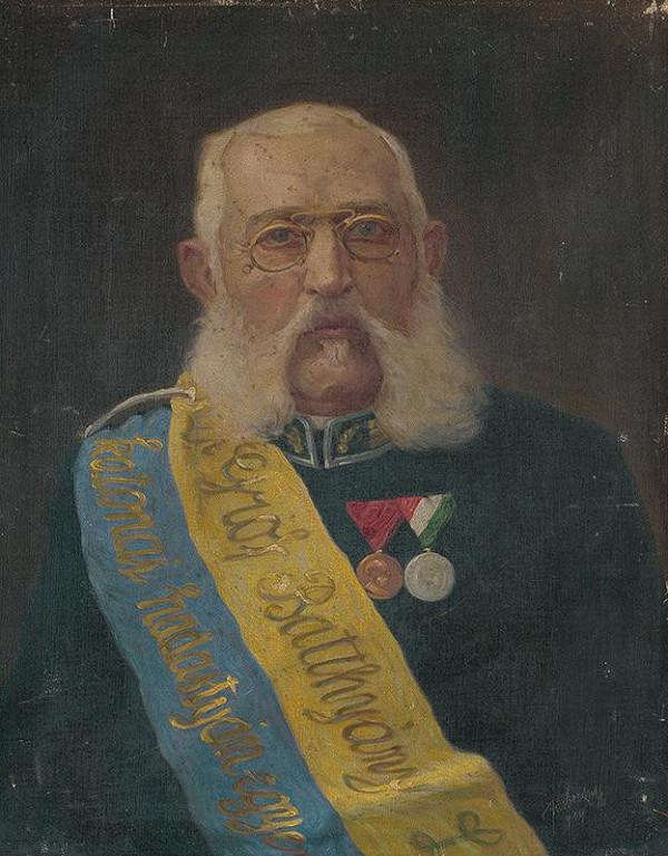 Stredoeurópsky maliar z 20. storočia - Portrét Josefa Javorszkeho - čestného predsedu vojenského spolku veteránov L. Batthányiho