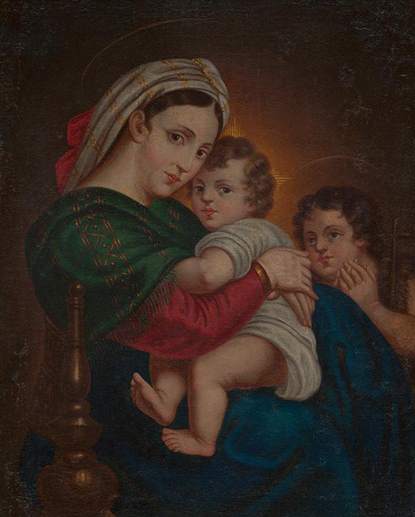 Stredoeurópsky maliar z konca 19. storočia, Raffael - Madona s dieťaťom