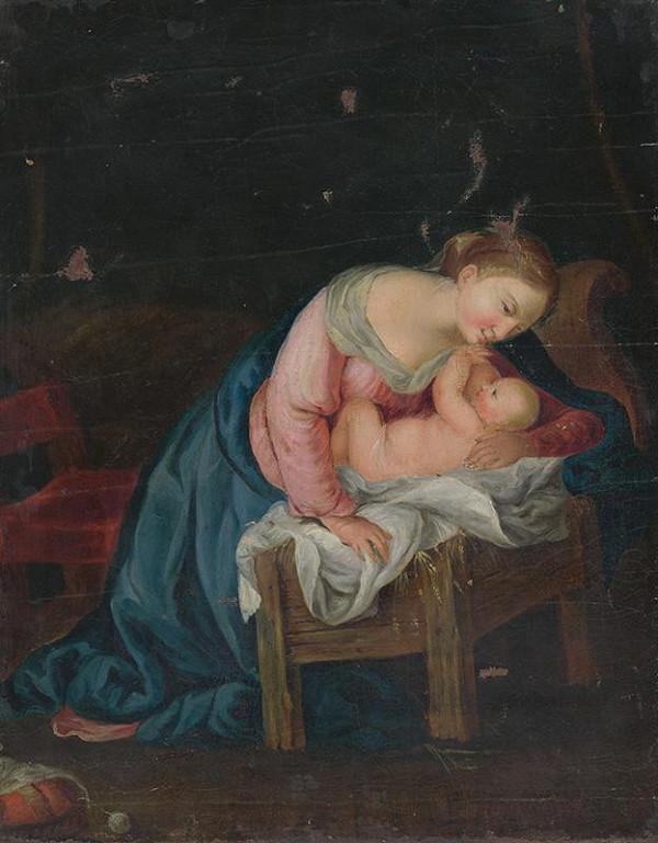 Stredoeurópsky maliar z konca 18. storočia - Matka s dieťaťom