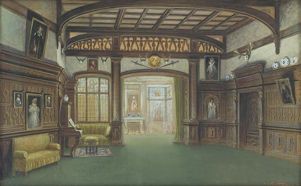 Franz Angelo Rottonara – Interiér zámku