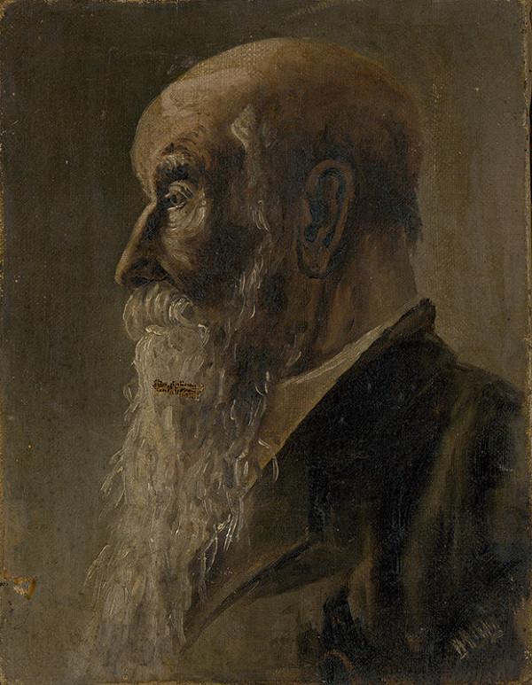 Stredoeurópsky maliar z polovice 20. storočia - Portrét starca s dlhou bradou