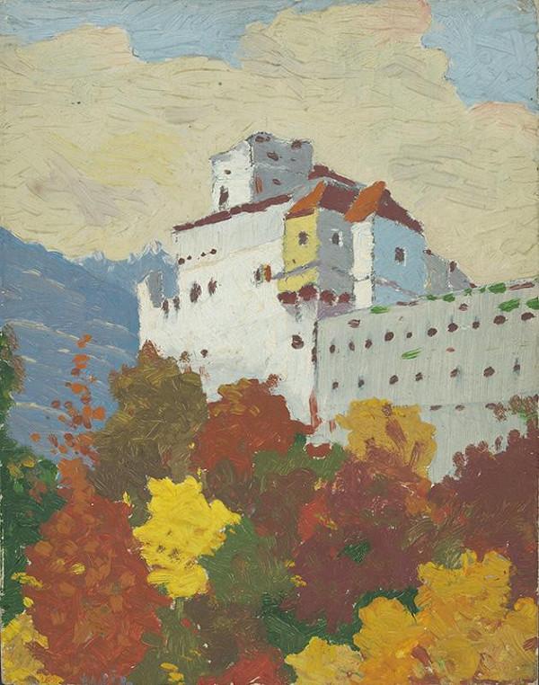 Stredoeurópsky maliar z polovice 20. storočia - Pohľad na hrad