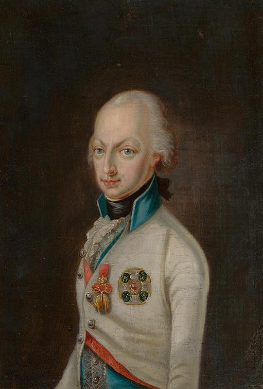 Stredoeurópsky maliar z 1. tretiny 19. storočia - Portrét  arcivojvodu Františka (II./I.)