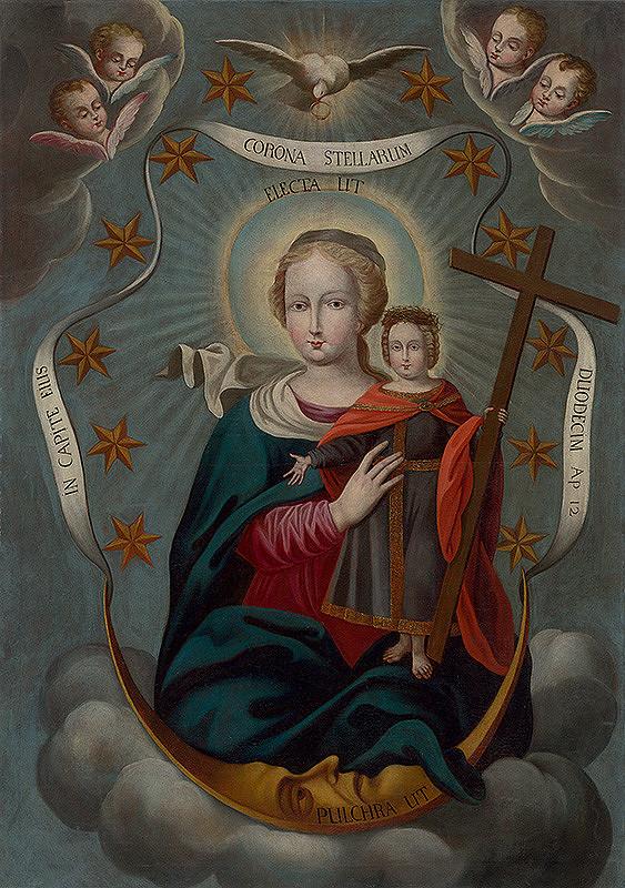 Stredoeurópsky maliar z 1. polovice 18. storočia - Panna Mária ako matka Vykupiteľa