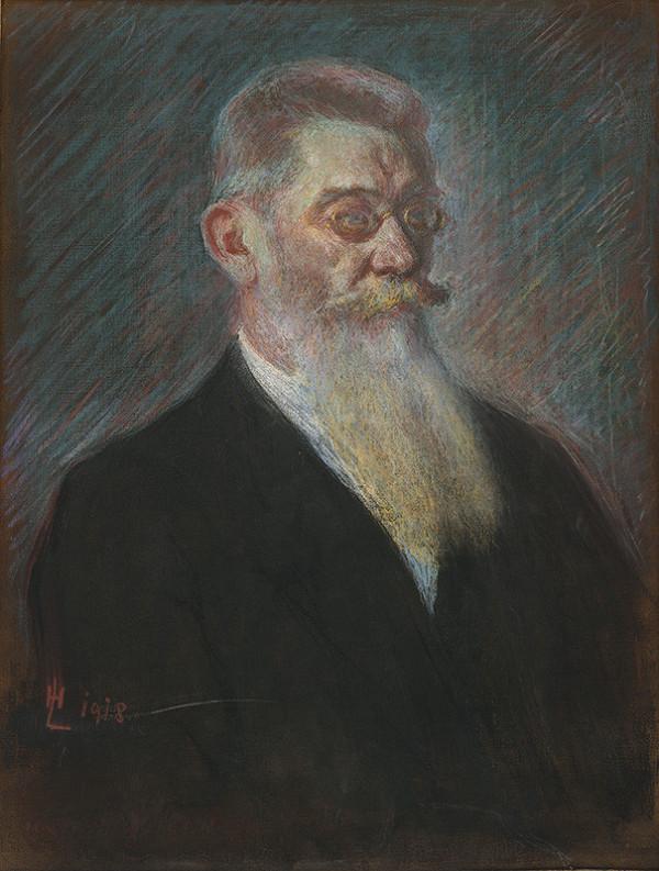 Slovenský maliar H.L. zo začiatku 20. storočia – Portrét muža s dlhou bradou