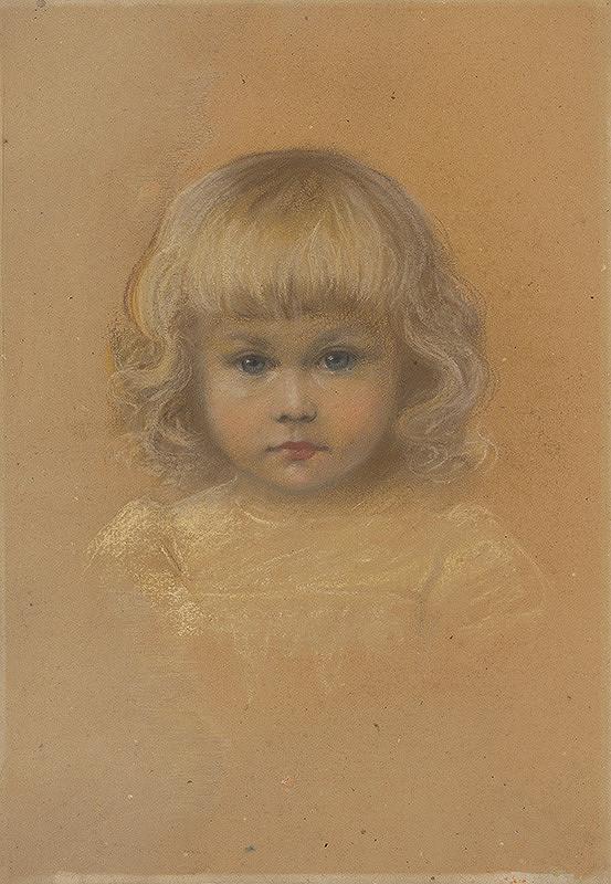 František Kozics – Portrét dievčatka