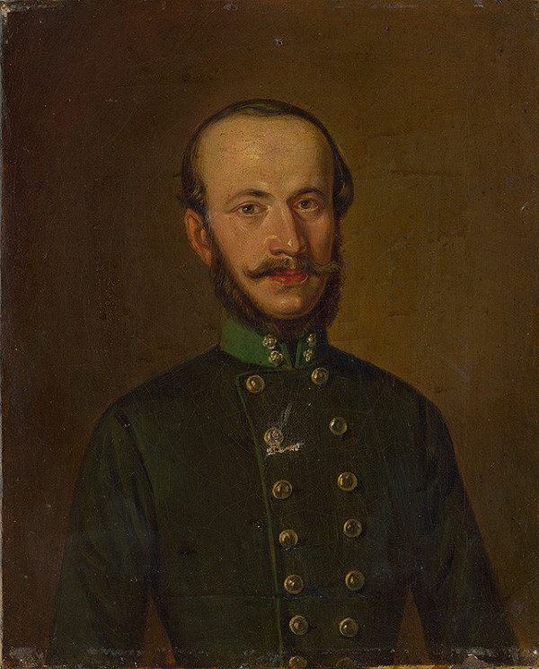 Stredoeurópsky maliar z 3. štvrtiny 19. storočia - Portrét dôstojníka