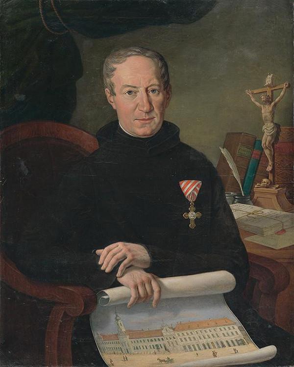Johann Nepomuk Höfel – Portrét Sidoniusa Szakovitsa, priora rehole Milosrdných bratov v Bratislave
