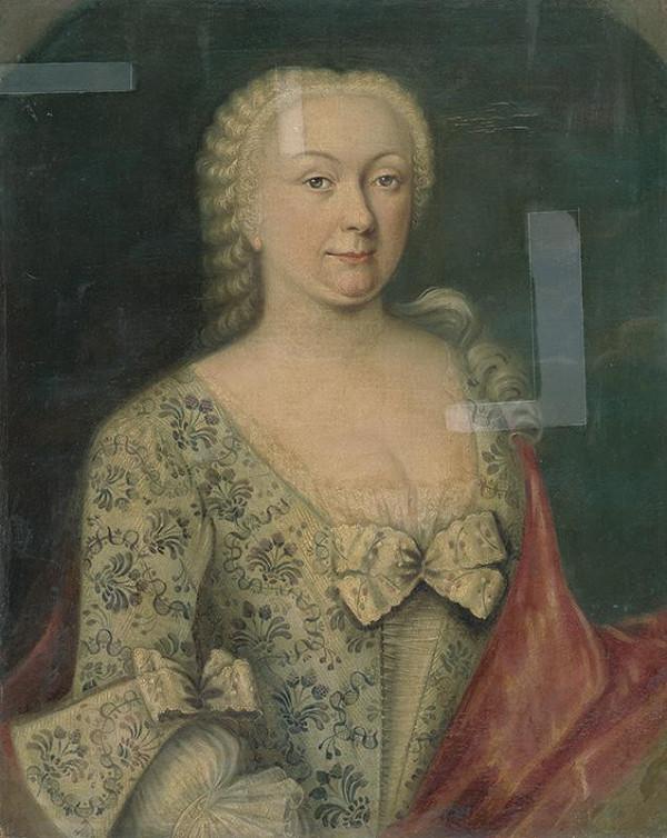Rakúsky maliar zo začiatku 2. polovice 18. storočia - Portrét dámy