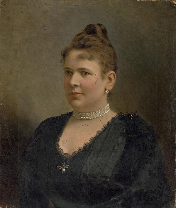 Stredoeurópsky maliar z konca 19. storočia - Portrét manželky Palugyayho ml.