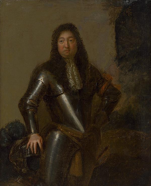 Stredoeurópsky maliar z 1. polovice 18. storočia – Portrét muža v brnení
