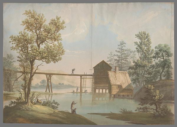 Stredoeurópsky maliar z 1. štvrtiny 19. storočia - Krajinka pri rieke
