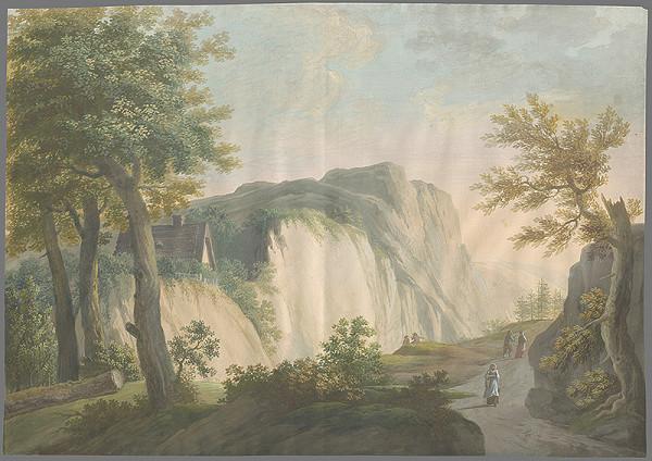 Stredoeurópsky maliar zo začiatku 19. storočia - Horská krajina s domom