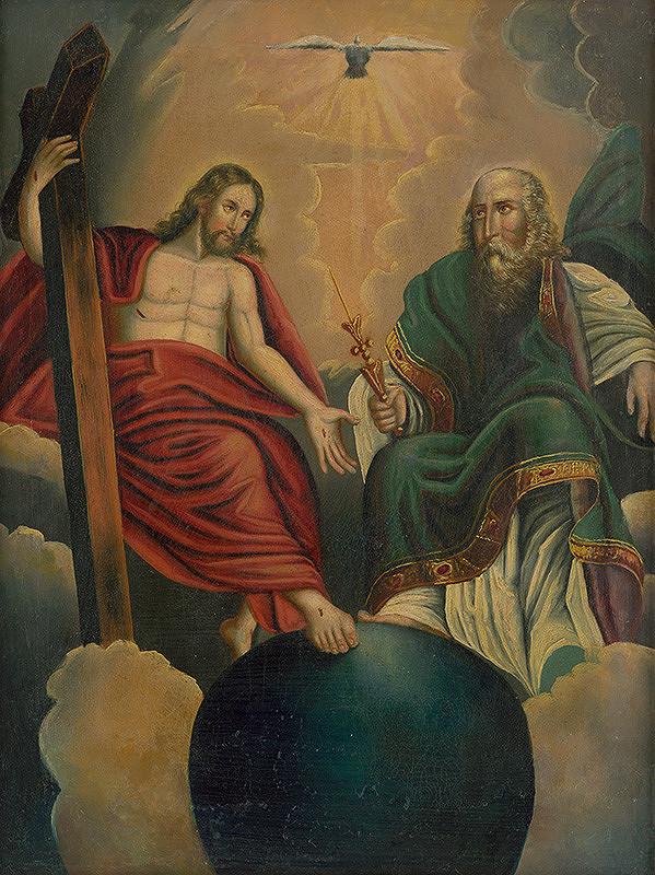 Stredoeurópsky maliar z prelomu 18. - 19. storočia - Svätá Trojica