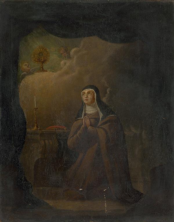 Stredoeurópsky maliar z 1. polovice 18. storočia - Svätá Klára z Assisi
