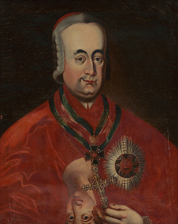 Slovenský maliar z prelomu 18. - 19. storočia - Portrét arcibiskupa Jozefa Batthyányho