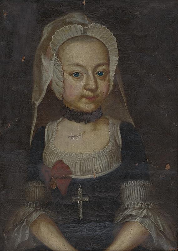 Stredoeurópsky maliar zo začiatku 18. storočia - Portrét dievčaťa