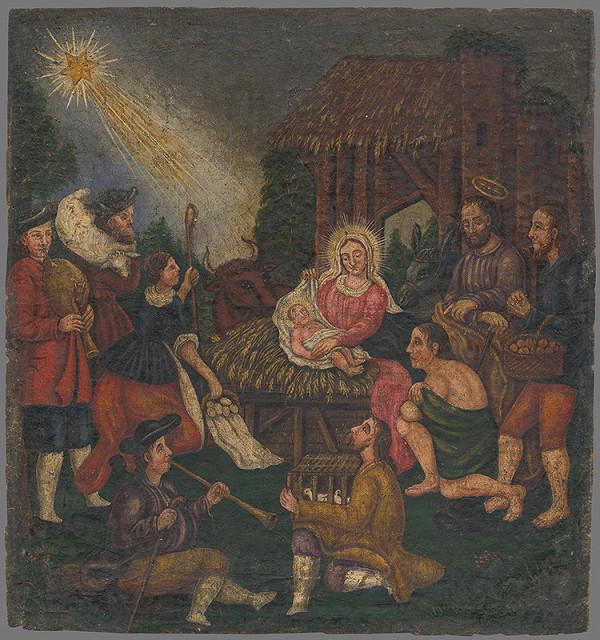 Stredoeurópsky maliar z prelomu 18. - 19. storočia - Klaňanie pastierov