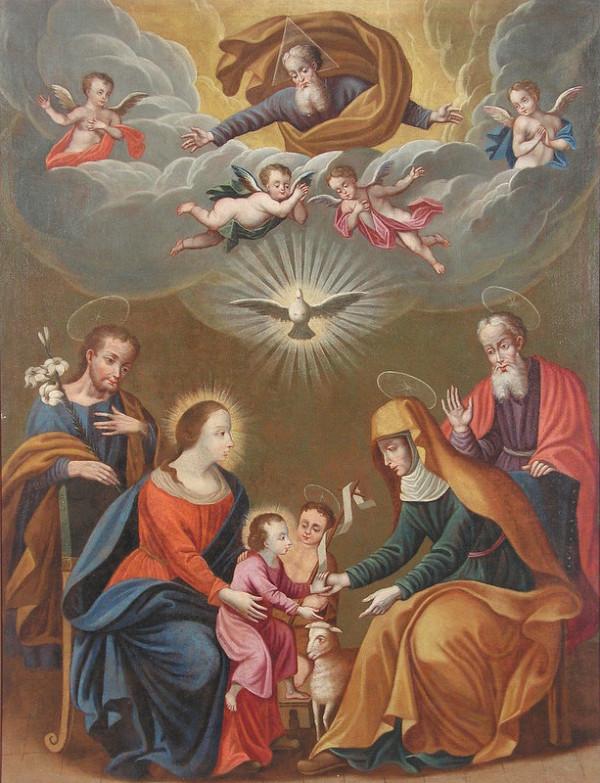 Slovenský maliar z 1. polovice 18. storočia - Sväté príbuzenstvo