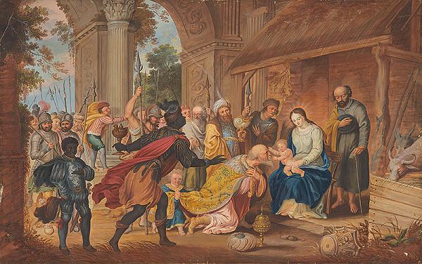 Nemecký maliar zo začiatku 19. storočia - Kľananie troch kráľov