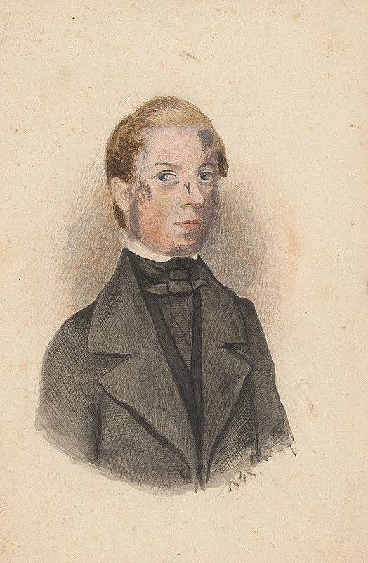 Slovenský maliar okolo polovice 19. storočia - Portrét kňaza Antona Nusszera