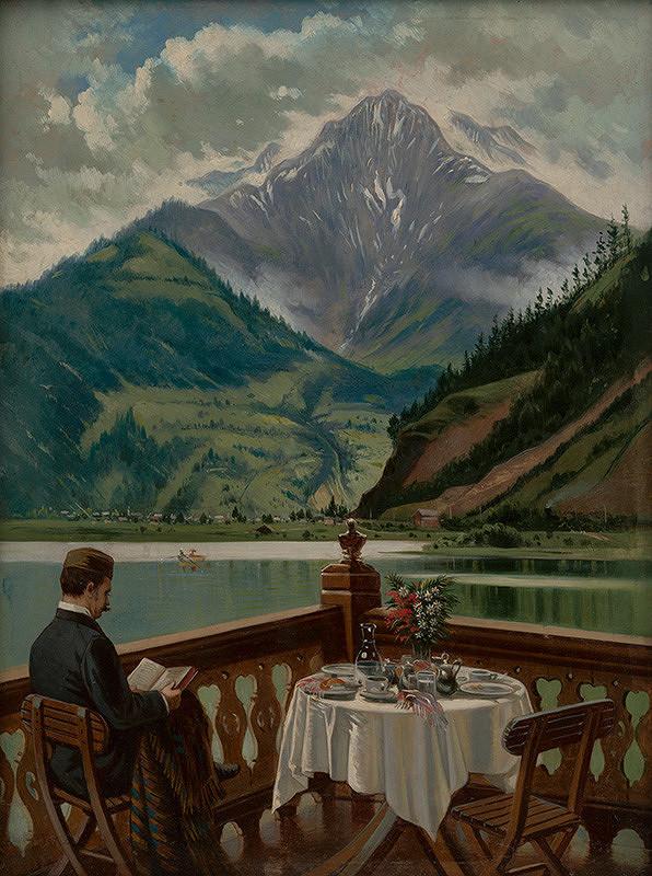 Eduard Majsch - Alpská krajinka pri Bodamskom jazere