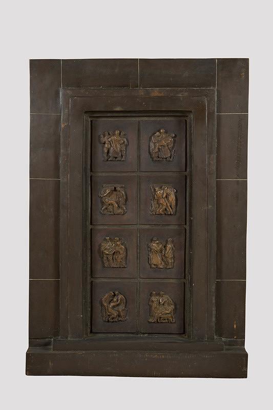 Rudolf Pribiš – Vonkajšia strana bronzových dverí na Slavíne