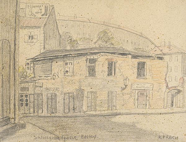 Karol Frech - Edlov dvor na Zámockej ulici v Bratislave